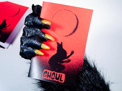 Ghoul Vol. I print design werewolf cryptid monsters horror creative direction art direction photography editorial layout magazine zine fun logo identity branding typography illustration design graphic design