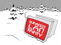 Durango LAN Parties December LAN lan parties lan computer branding typography vector graphic illustration design graphic design