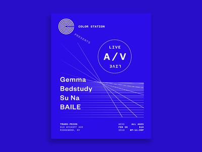 Live A/V Poster