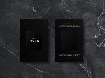 The River Thu Thiem Business Cards typography blackonblack logo business cards