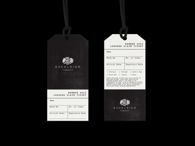 Excelsior Yangon Luggage Tags