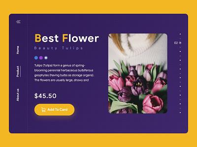 Florist Concept hellodribbble colorful color product store flat pattern cta button cta button web florist flower