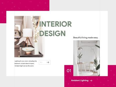 Interior Design hellodribbble color colorful product cta button minimalist minimal pattern arrow btn lamp interior design interior website webdesign web