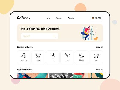 Origami yellow button btn searchbox scheme illustration design search donate origami ui web colorful pattern product cta button color