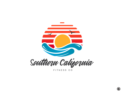 Southern California Fitness Logo logo design marketing design iconography icon branding vector logo
