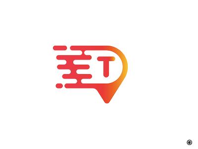 Tonys Taxi adobe illustrator location comet identity brand mark modern branding logo taxi