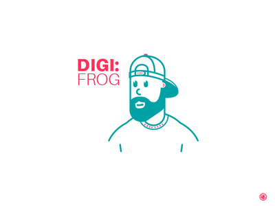 Digifrog Avatar line art design logo graphics vector icon face avatar