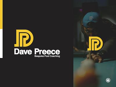 Dave Preece Bespoke Pool Coaching Logo Design logodesigner marketing agency adobe brand and identity brand agency mockup design logomarks logomark typography identity brand mark design adobe illustrator logo design thick lines illustrator illustration vector branding logo