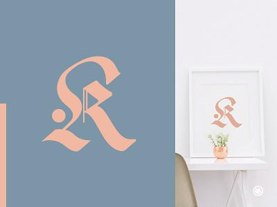 R Monogram logo design design branding shape tattoo type pink monogram manipulation geometrical mark minimal creative symbol gothic strong clean logo branding identity brand