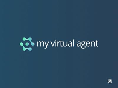 My Virtual Agent creative logodesigner sales tool marketing virtual assistant molecule artificial intelligence brand logomark logomarks identity icon brand mark logo design illustration vector illustrator design branding logo