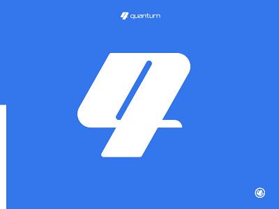 Quantum thick lines illustration vector logodesigner logomarks logo design icon identity adobe illustrator logomark brand mark illustrator design monogram branding logo