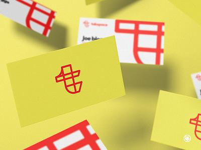Tabspace Business Card brand mark thick lines adobe illustrator logo design branding vector illustration design logo illustrator