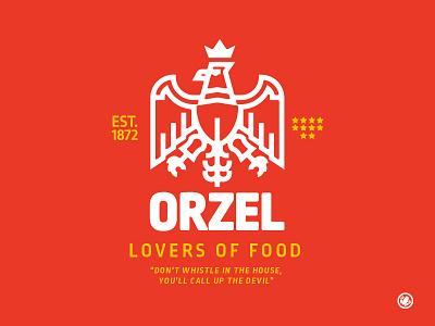 Orzel Crest family crest eagle logo eagle icon brand mark thick lines adobe illustrator branding logo design vector illustration design logo illustrator