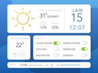 Daily UI - 021 Home Monitoring Dashboard