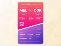 Daily UI - 024 Boarding Pass