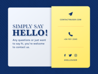 Daily UI - 028 Contact Us
