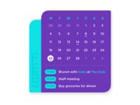 Daily UI - 038 Calendar
