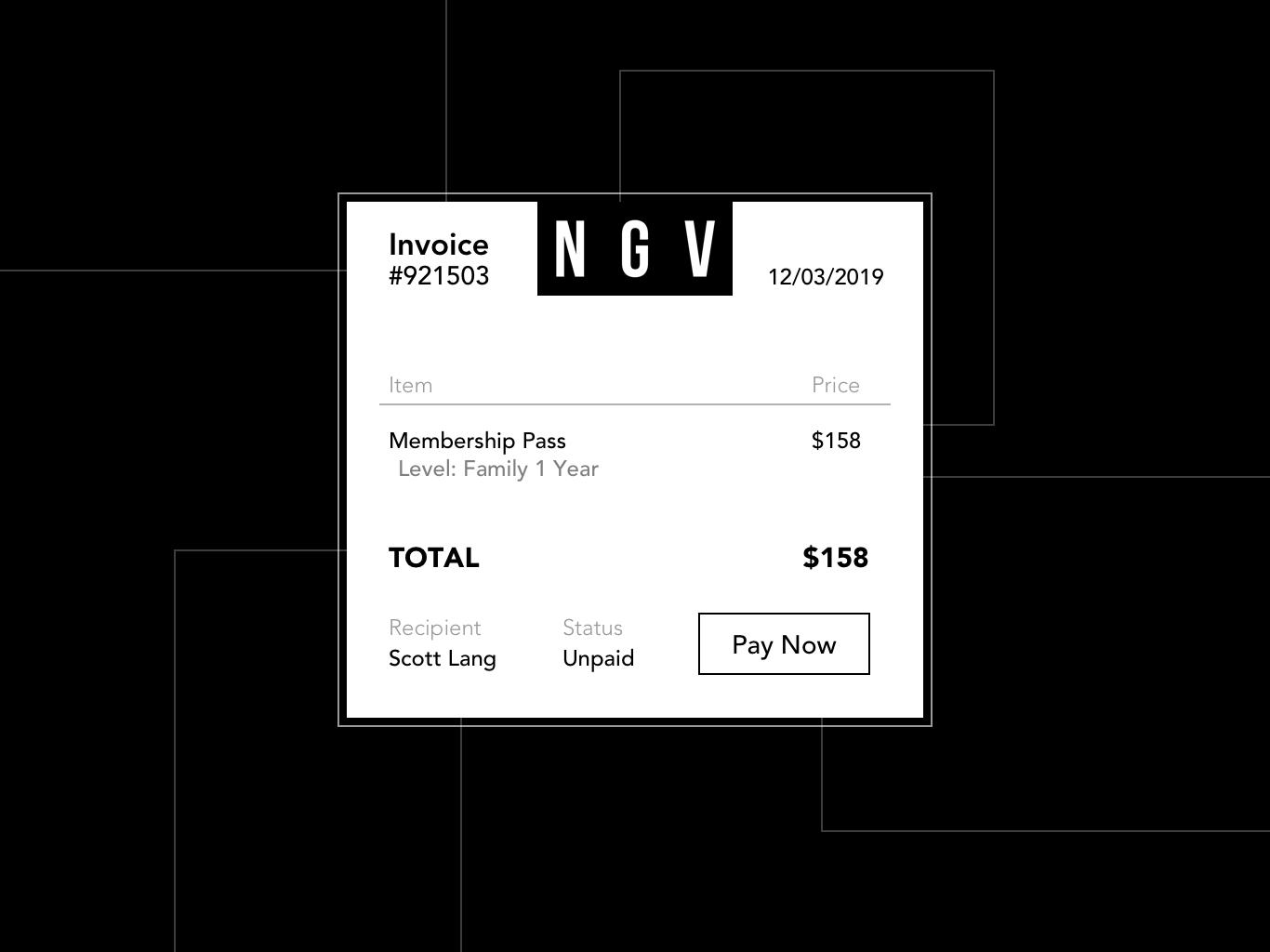 Daily UI - 046 Invoice pay membership gallery invoice 46 simple graphic ui design dailyui