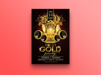 Rich Gold Party Flyer