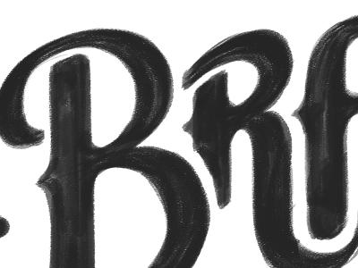 Bradley's bar typography hand drawn wacom logo