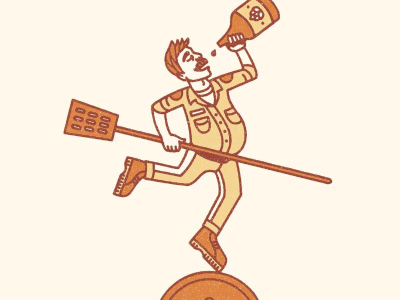 Joker cards playing deck beer craft illustration mustache joker growler keg