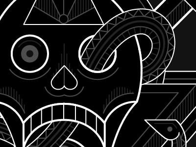 Bedlam WIP 3 music cover designersmx mixtape eyes metal snakes swords album skull