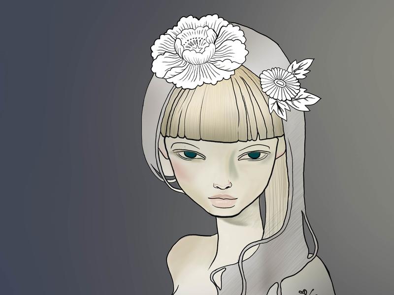 Digital Painting Artwork 2013 innocence girl wacom contest painting digital