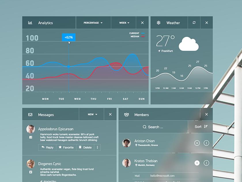 Dashboard Quick-Design Concept typography modern blur web design design ux ui dashboard