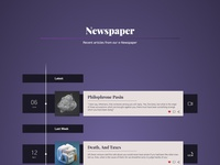 One Page - Web Design