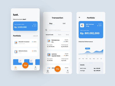 Mutual Funds Design interface app mobile ui uiux design figma ux ui investment
