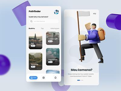 Traveling App Design mobile ui mobile app design application uiux interface app figma ux ui trip travel