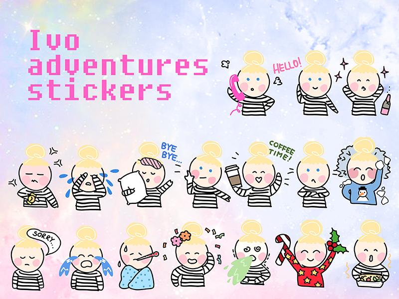 Hello! It's me! :) imessage ivo stickerspack emoji illustration appstore ios stickers