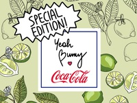 Exclusive collaboration. Yeah Bunny x COCA COLA
