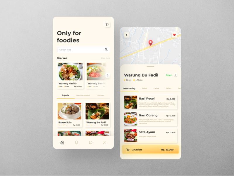 Foodies App Design