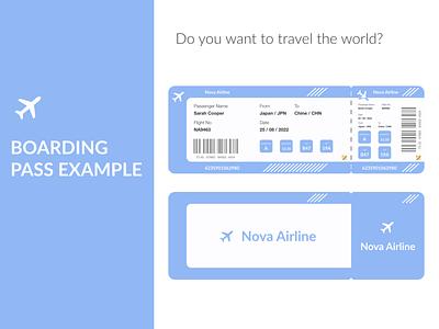 Boarding Pass boarding pass illustration website web ui ux design