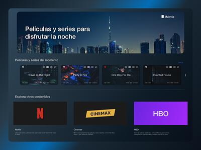 TV App iMovie tv app website web ux ui design