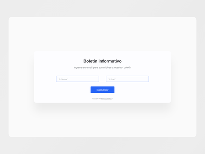 Subscribe Web Form subscription subscribe website web ui ux design