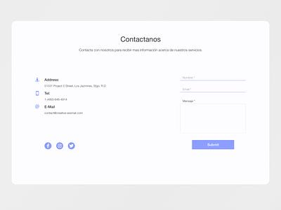 Contact Us Web Form contactus contactform website web ui ux design