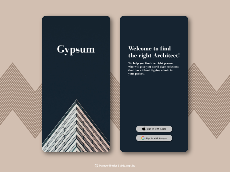 Gypsum Sign Up UI page