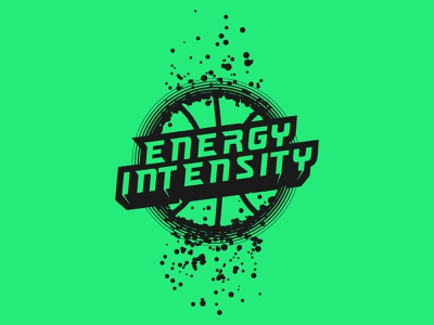 Energy Intensity Basketball sports esport sport illustration branding team design black green splatter mark emblem logo camp tournament basketball intensity energy