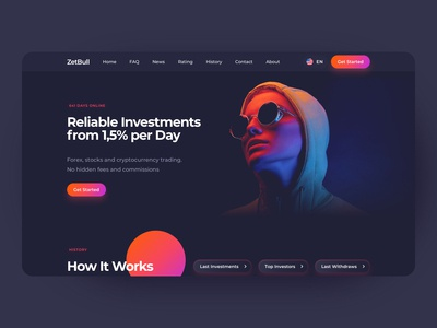 Investments Landing Page