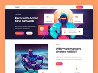 CPA Network Landing Page menu header concept minimal clean ui clean langing landing page desktop web design web ux design ui design interface product it tech fintech tech company technology