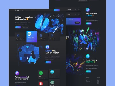 Crypto Payments Landing Page Desktop field form crypto design cryptocurrency fintech finance crypto trading home page neomorfism dark ui dark mode langing landing page desktop web design web ux design ui design interface