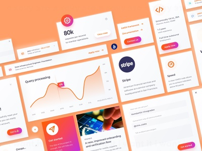fintech solutions platform ui kit clean neumorphism minimal crypto design interface blog clean neumorphism cards card ui map links actions fields form button pop up call to action notification feature ui kit chart