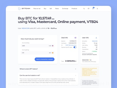 p2p exchange platform page desktop dark and light faq balance total crypto minimal clean user interface request send money send deposit currency form fields user info info transaction person to person deal p2p