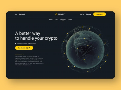 crypto wallet landing concept desktop dark and light get started crypto project crypto particles text hero header illustration interface desktop minimal design product cryptocurrency crypto design crypto screen globe