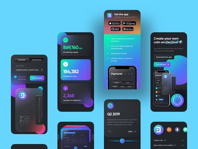 liquid coin landing screens mobile dark glassmorphism minimal cryptocurrency crypto design web interface user interface mobile app mobile app landing page glassmorphism sticker ui cta call to action cards glass screens coins coin