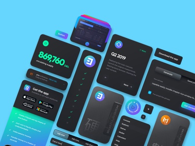 liquid coin landing ui kit desktop dark glassmorphism download app app minimal cryptocurrency crypto design crypto coins banking credit card card form list dropdown field selector button elements components cards ui kit