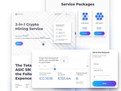 Crypto Mining Service Landing Page