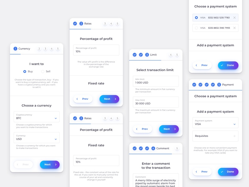 Mobile Exchange Step Form mobile app concept finance ethereum tokens app token bitcoin ico crypto ux design interface product cryptocurrency web ui blockchain